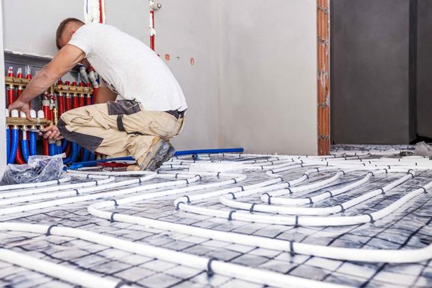 Installeren en afmonteren vloerverwarming